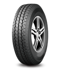 Two circumferential central ribs provide super wear-resistance. Convex tread blocks provide excellent traction and prevent sideslip. Circumferential tread blocks on shoulders deliver excellent stability and handling.