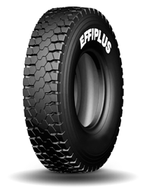 160% Load capacity Mix Service Big Foot Design 6% ( 14mm) bigger tread width improve the mileage Size Effiplus Tread Width Regular Tread Width 315/80R22.5 256mm 242mm Directional Design The tire needs to be mounted by following the directio